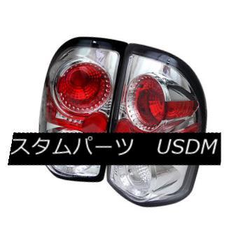 テールライト Dodge 97-04 Dakota Chrome Euro Style Rear Tail Light Brake Lamp Set ドッジ97-04ダコタクロムユーロスタイルリアテールライトブレーキランプセット