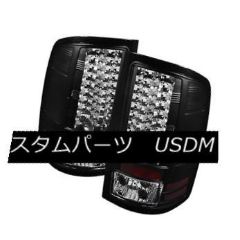テールライト GMC 07-13 Sierra 1500/2500HD/3500HD Black LED Rear Tail Lights Brake Lamp Set GMC 07-13 Sierra 1500 / 2500HD / 35 00HDブラックLEDリアテールライトブレーキランプセット