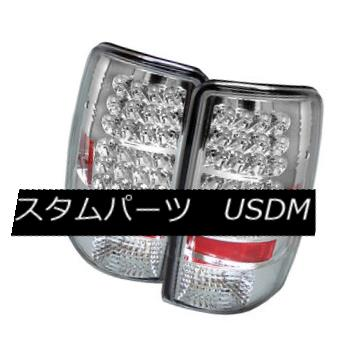 テールライト Chevy 00-06 Suburban Tahoe Yukon Chrome LED Rear Tail Lights Lamp LS LT SLT SLE Chevy 00-06郊外Tahoe Yukon Chrome LEDリアテールライトランプLS LT SLT SLE