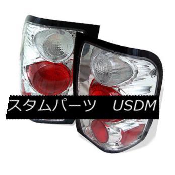 テールライト Ford 98-00 Ranger Chrome Euro Style Rear Tail Lights Brake Lamp Set XLT XL EV フォード98-00レンジャークロムユーロスタイルリアテールライトブレーキランプセットXLT XL EV