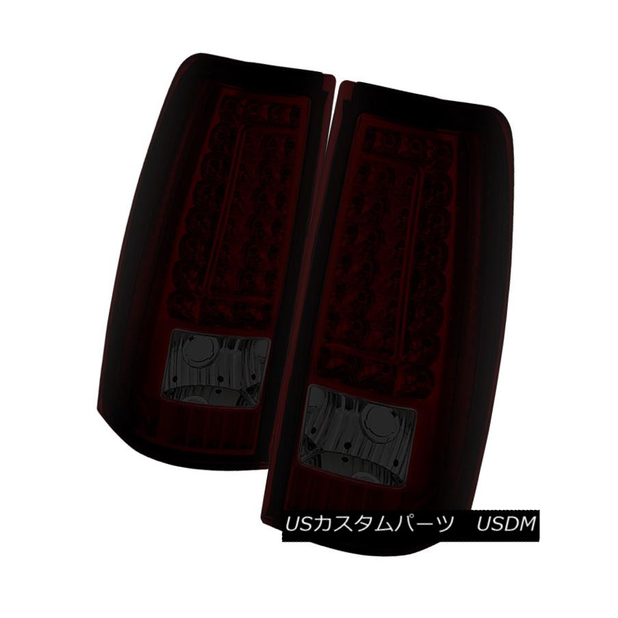 テールライト New Chevy 99-02 Silverado 99-03 GMC Sierra Red Smoked LED Tail Lights Left+Right 新しいシボレー99-02 Silverado 99-03 GMCシエラレッドスモークLEDテールライト左+右