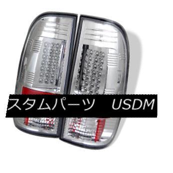 テールライト Ford 97-03 F150 99-07 F250/350/450/550 SuperDuty Chrome LED Rear Tail Lights Set フォード97-03 F150 99-07 F250 / 350/450/5 50 SuperDuty Chrome LEDリアテールライトセット