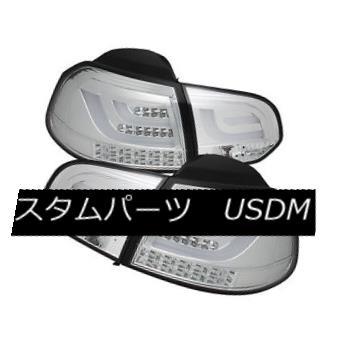 テールライト Volkswagen 10-14 Golf / GTI Chrome LED Rear Tail Lights G2 Lamp Set Neon Tube フォルクスワーゲン10-14ゴルフ/ GTIクロームLEDリアテールライトG2ランプセットネオンチューブ