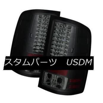 テールライト GMC 07-13 Sierra 1500/2500HD/3500HD Black Smoke LED Rear Tail Lights Brake Lamp GMC 07-13 Sierra 1500 / 2500HD / 35 00HDブラックスモークLEDリアテールライトブレーキランプ