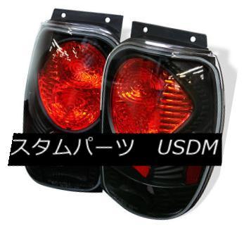 テールライト Ford 98-01 Explorer Mountaineer Black Rear Tail Lights Brake Lamp XL XLS XLT フォード98-01エクスプローラーマウンテニアブラックリアテールライトブレーキランプXL XLS XLT