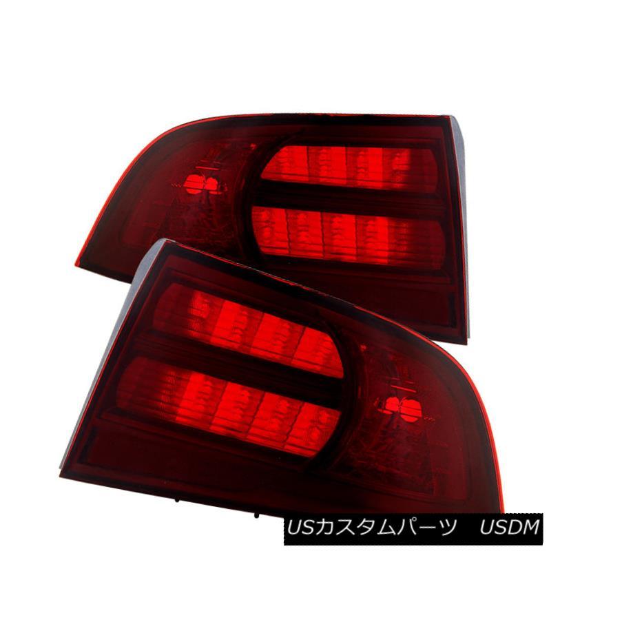 テールライト Acura 04-08 TL Red Smoke Replacement Rear Tail Brake Lights Left+Right Set Acura 04-08 TL赤い煙の交換後部テールブレーキライト左+右セット