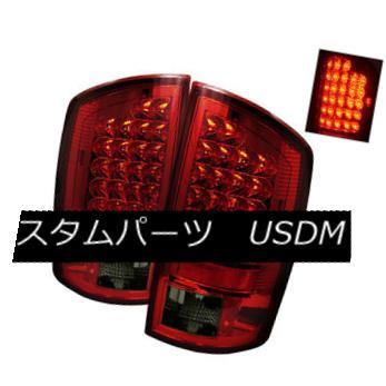 テールライト Dodge 07-08 Ram 1500/2500/3500 Red Smoke LED Rear Tail Lights Brake Lamp Set ドッジ07-08ラム1500/2500/3500赤い煙LED後部テールランプブレーキランプセット