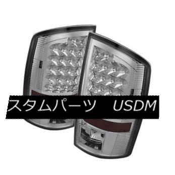 テールライト Dodge 02-06 Ram 1500/2500/3500 Chrome LED Rear Tail Brake Lights Left & Right ドッジ02-06 RAM 1500/2500/3500クロームLEDリアテールブレーキライト左& 右