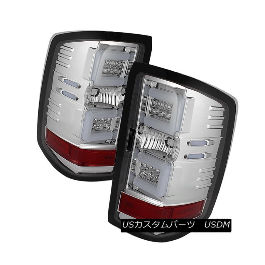 テールライト Chevy 14-16 Silverado LED Neon Tube Style Chrome Rear Tail Brake Lights Set シボレー14-16 Silverado LEDネオンチューブスタイルクロームリアテールブレーキライトセット