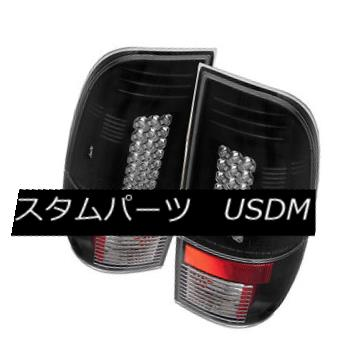 テールライト Ford 97-03 F150 99-07 F250/350/450/550 SuperDuty Black LED Rear Tail Lights Lamp フォード97-03 F150 99-07 F250 / 350/450/5 50 SuperDuty Black LEDリアテールライトランプ