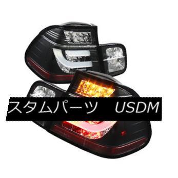 テールライト BMW 3-Series 99-01 E46 4dr Black LED Rear Tail Lights Set Strip Style Lamp Sedan BMW 3シリーズ99-01 E46 4drブラックLEDリアテールライトセットストリップスタイルランプセダン