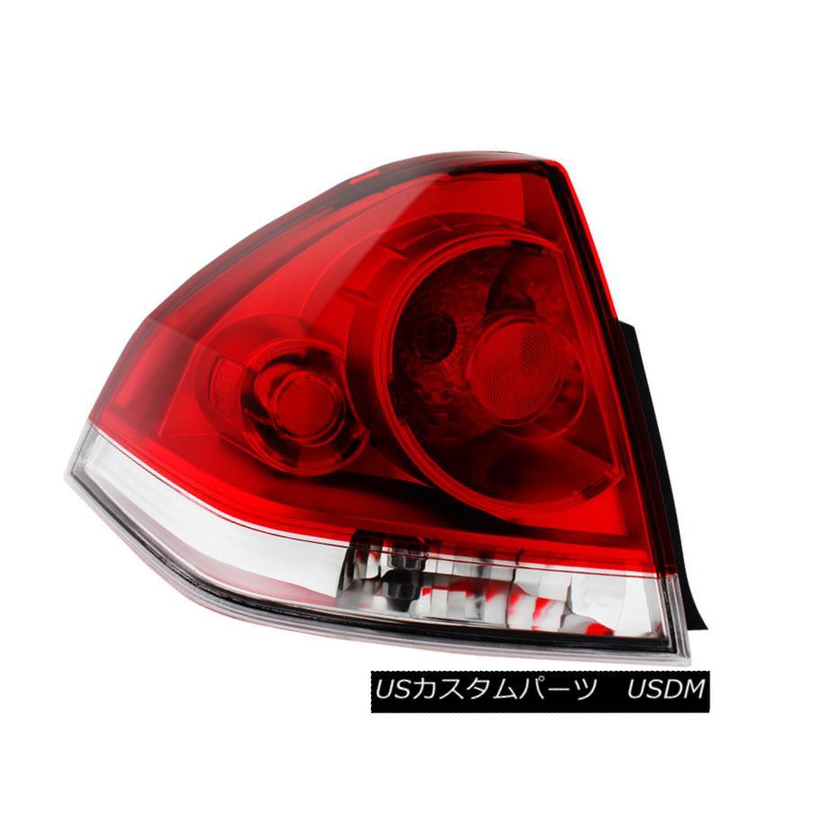テールライト Chevy 06-13 Impala Red & Clear Factory Style Driver / Left Side Tail Brake Light シェビー06-13インパラレッド& 工場スタイルドライバ/左サイドテールブレーキライトをクリア