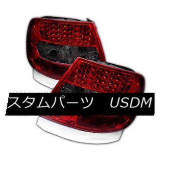 テールライト Audi 96-01 A4 00-02 S4 B5 Sedan Red & Smoke Rear LED Tail Brake Lights Audi 96-01 A4 00-02 S4 B5 Sedan Red& スモークリアLEDテールブレーキライト
