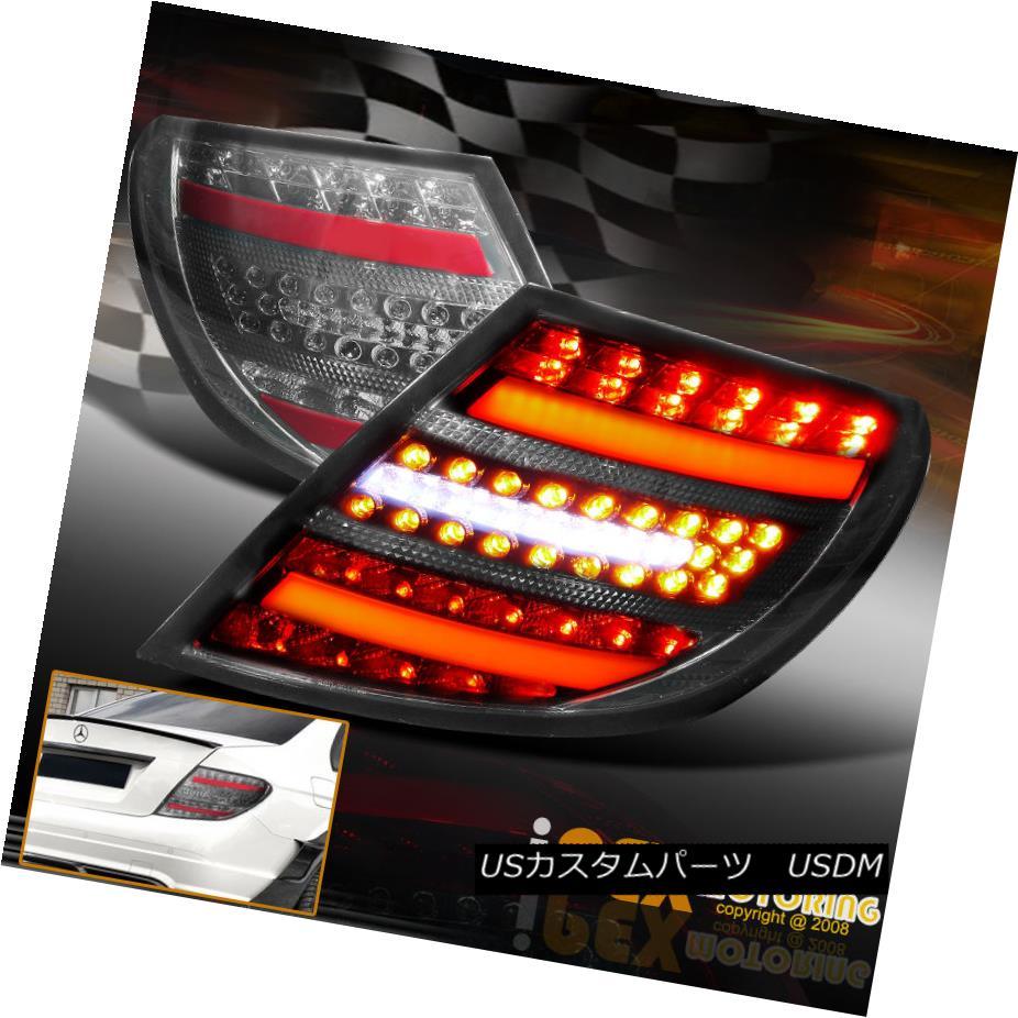 テールライト C-CLASS 2008-2011 Mercedes Benz W204 C300 C350 AMG LED Black-Smoked Tail Lights Cクラス2008-2011メルセデスベンツW204 C300 C350 AMG LEDブラックスモークテールライト