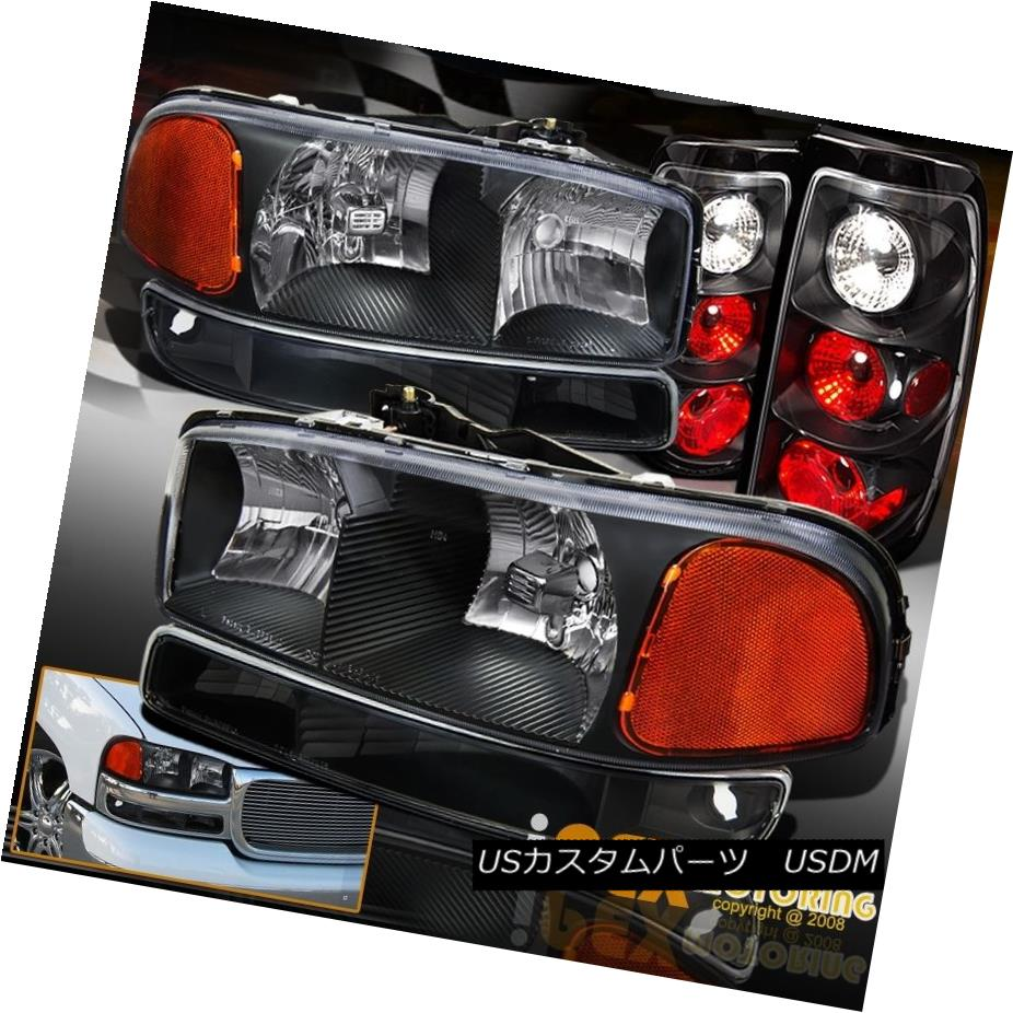 テールライト BLACK Set: 2004-2006 GMC Sierra 1500 2500 Headlights + Signal Light & Tail Light ブラックセット:2004-2006 GMC Sierra 1500 2500ヘッドライト+シグナルライト& テールライト