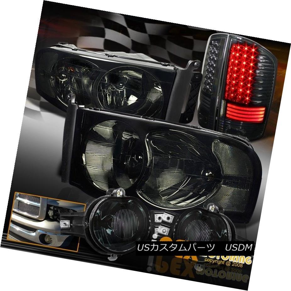 テールライト *Full Smoke 6PCS* 02-05 Dodge Ram Headlight + Brightest LED Tail Light & Fog Kit *フルスモーク6PCS * 02-05ダッジラムヘッドライト+最も明るいLEDテールライト& フォグキット