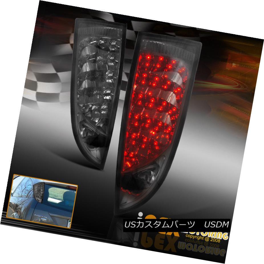 テールライト New For All 2000-2006 Ford Focus ZX3 ZX5 SVT Hatchback LED Tail Lights Smoke すべて2000?2006年のフォードフォーカスZX3 ZX5 SVTハッチバックLEDテールライトスモーク