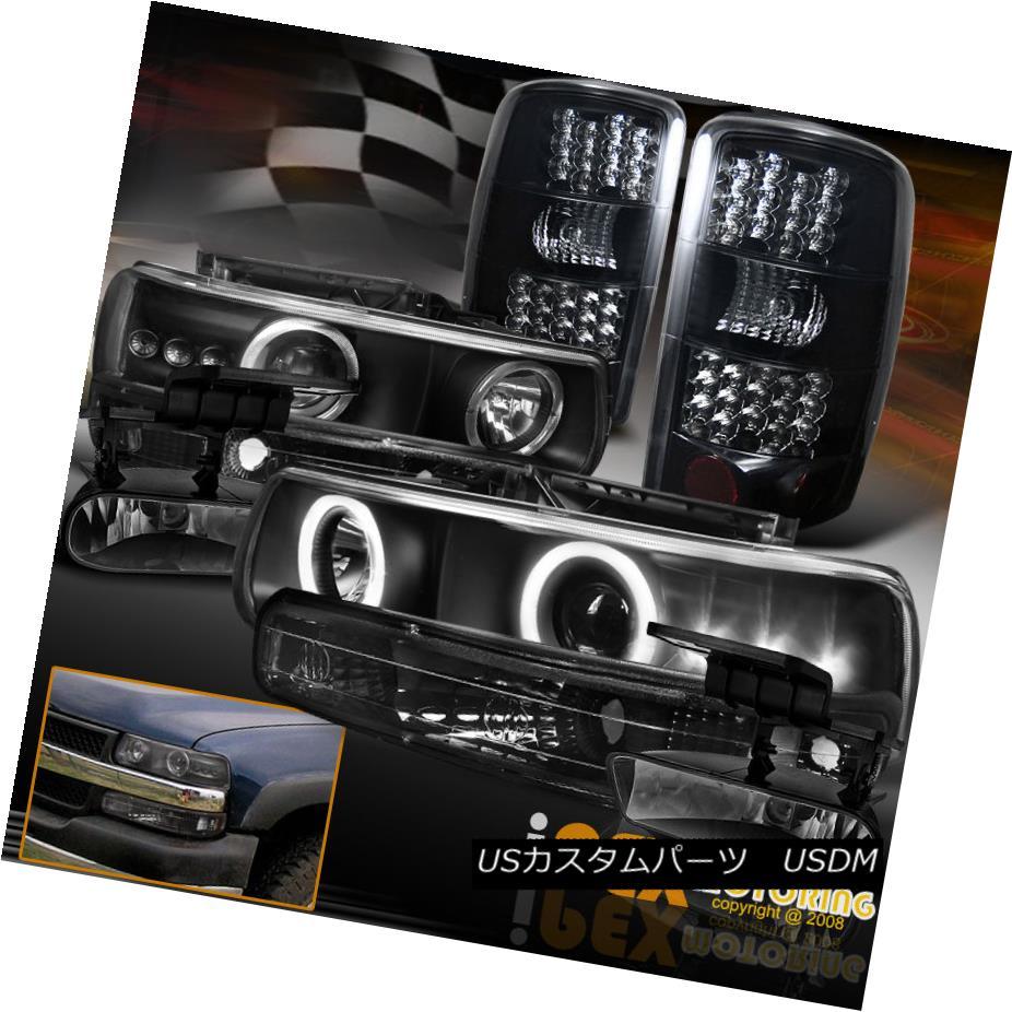 テールライト [FULL 8PCS] Chevy Suburban Tahoe Dark Smoke LED Tail Light + Projector Headlight [フル8PCS]シボレー郊外のタホダークスモークLEDテールライト+プロジェクターヘッドライト
