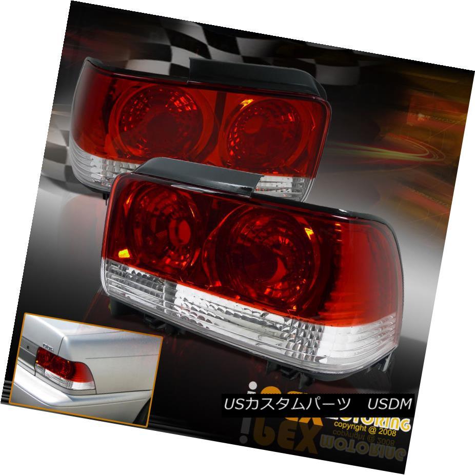 テールライト Pair 1993-1997 Toyota Corolla CLEAR/RED Tail Lights Free Shipping+Warranty ペア1993-1997トヨタカローラCLEAR / REDテールライト送料無料+ Warra nty