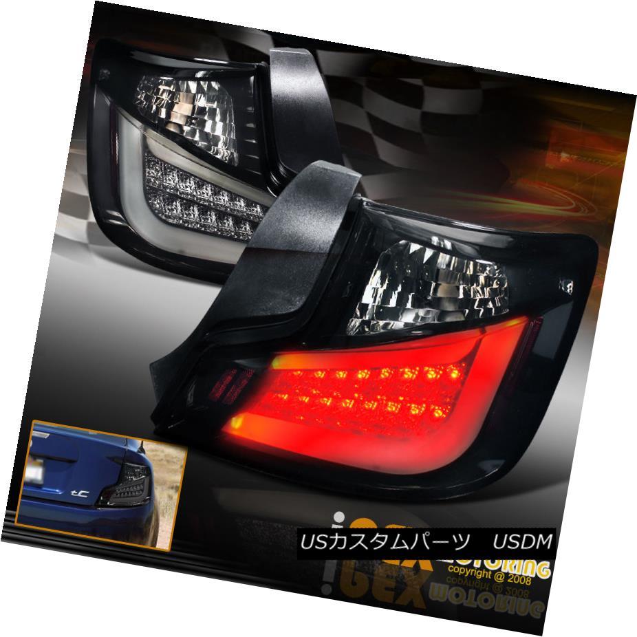 テールライト NEW For 2011 2012 2013 Scion TC Bright Glow Strp Smoked-Black LED Tail Lights 2012年2013シオンTCブライトグロースモークブラックLEDテールライト
