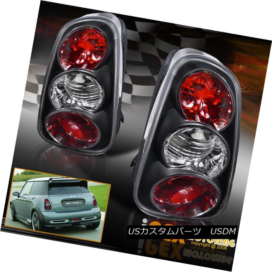 テールライト NEW For All 2002 2003 2004 Mini Cooper Black Set Tail Lights NEWすべての2002年の2003年2004ミニクーパーブラックセットテールライト
