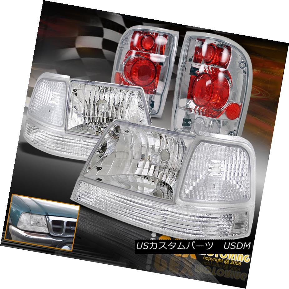 テールライト [6Pcs Set] [6個セット] 1998 テールライト 1999 1999 2000 Ford Ranger Chrome Headlights W/ Signals + Tail Lights [6個セット] 1998 1999 2000フォードレンジャークロームヘッドライトW/シグナル+テールライト, オグニマチ:f3c167dd --- officewill.xsrv.jp