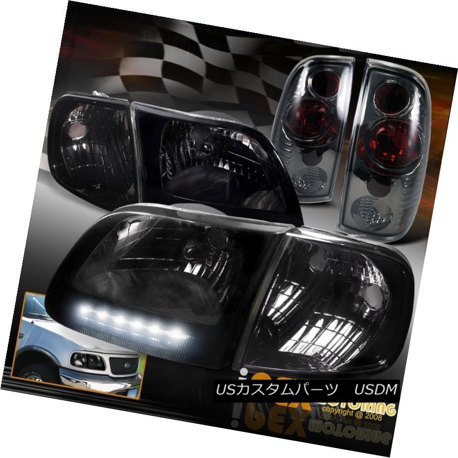 テールライト Smoke 1997-2003 Ford F150 + Dark Smoke LED Lights Headlights + Corner + Smoke Euro Tail Lights 1997-2003フォードF150ダークスモークLEDヘッドライト+コーナー+スモークユーロテールライト, E-WestClub:d1ccc6d0 --- officewill.xsrv.jp