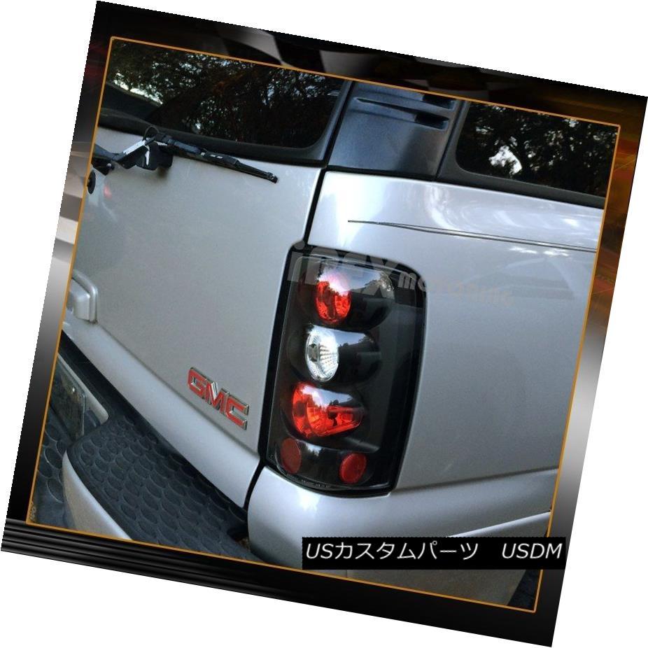 テールライト NEW For 2000-2006 Chevy Suburban Tahoe GMC Yukon Denali Black Tail Lights Lamps 2000-2006シボレー郊外のタホGMCユーコンデナリブラックテールライトランプのNEW