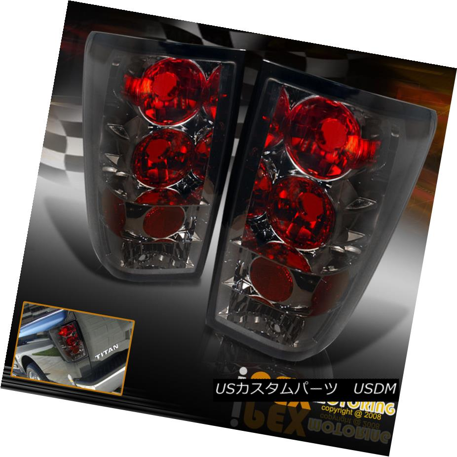 テールライト For 2004-2014 Nissan Titan Smoke Tinted Lens Tail Lights Brake Lamps 2004年?2014年Nissan Titan Smoke Tinted Lensテールライトブレーキランプ