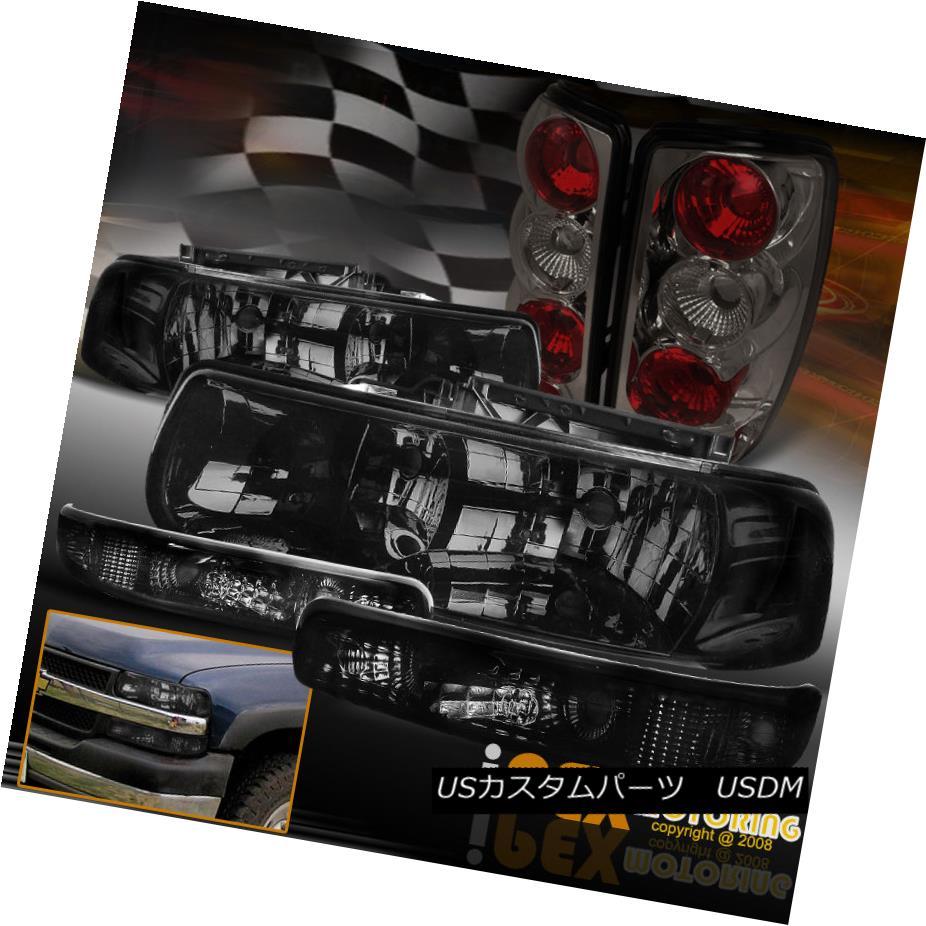 テールライト 2000-2006 Chevy Suburban/Tahoe Smoke Headlights+Signal+Dark Smoke Tail Lights 2000-2006シボレー郊外/タホ煙ヘッドライト+シグモア nal +ダークスモークテールライト