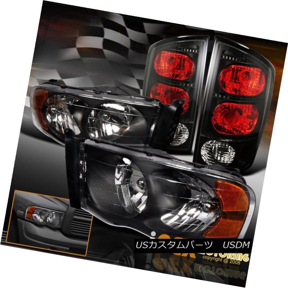 テールライト Set Black For 2002-2005 Dodge Ram 1500 2500 Lights 3500 Ram Black Headlights W/ Black Tail Lights 2002-2005ドッジラム1500 2500 3500ブラックヘッドライトW/ブラックテールライト, 夏セール開催中 MAX80%OFF!:6f939e0d --- officewill.xsrv.jp