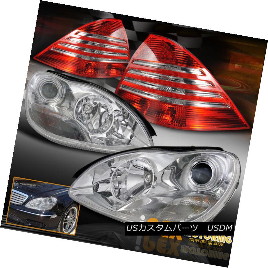 テールライト (S-Class) 00-05 Mercedes Benz W220 Projector Chrome Headlights + Euro Tail Light (Sクラス)00-05メルセデスベンツW220プロジェクタークロームヘッドライト+ユーロテールライト