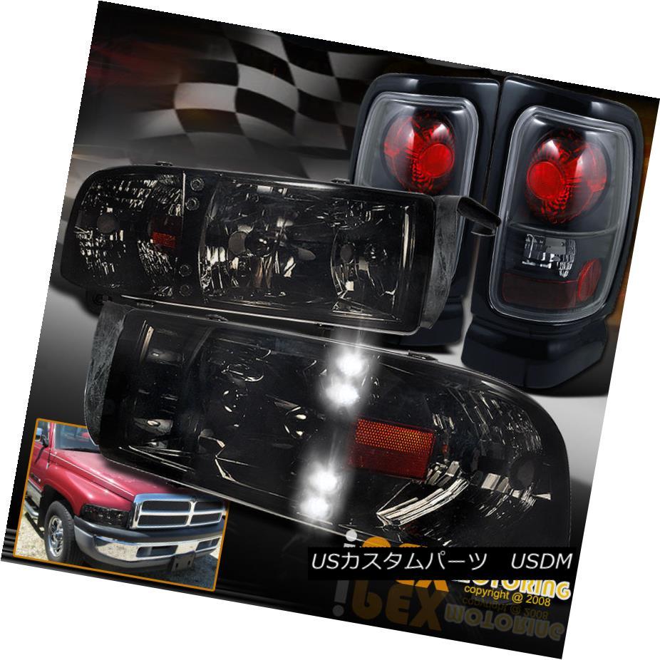 テールライト Shiny Black Smoke 1994-2001 Dodge 3500 Ram 1994-2001 1500 2500 3500 LED Headlights + Black Tail Light シャイニースモーク1994-2001ダッジラム1500 2500 3500 LEDヘッドライト+ブラックテールライト, おかきのげんぶ堂:1763b14f --- officewill.xsrv.jp
