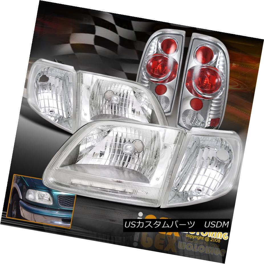 テールライト NEW 1997-2003 1997-2003 Ford F150 LED Headlights W + NEW/ Corner Signals + Tail Lights Chrome NEW 1997-2003 Ford F150ヘッドライトW/コーナー信号+テールライトクローム, NEXARY:6386ee02 --- officewill.xsrv.jp