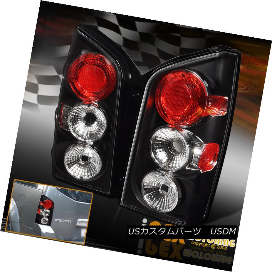 テールライト For 2005-2009 Nissan Pathfinder Pair Black Euro Tail Lights Free Shipping 2005-2009日産パスファインダーペアブラックユーロテールライト送料無料