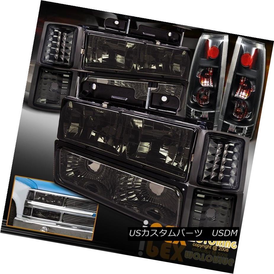 テールライト Special 94-98 Chevy Silverado Tahoe Smoke Headlights +Signals + Black Tail Light スペシャル94-98シボレーシルバラードタホスヘッドライト+シグナル+ブラックテールライト