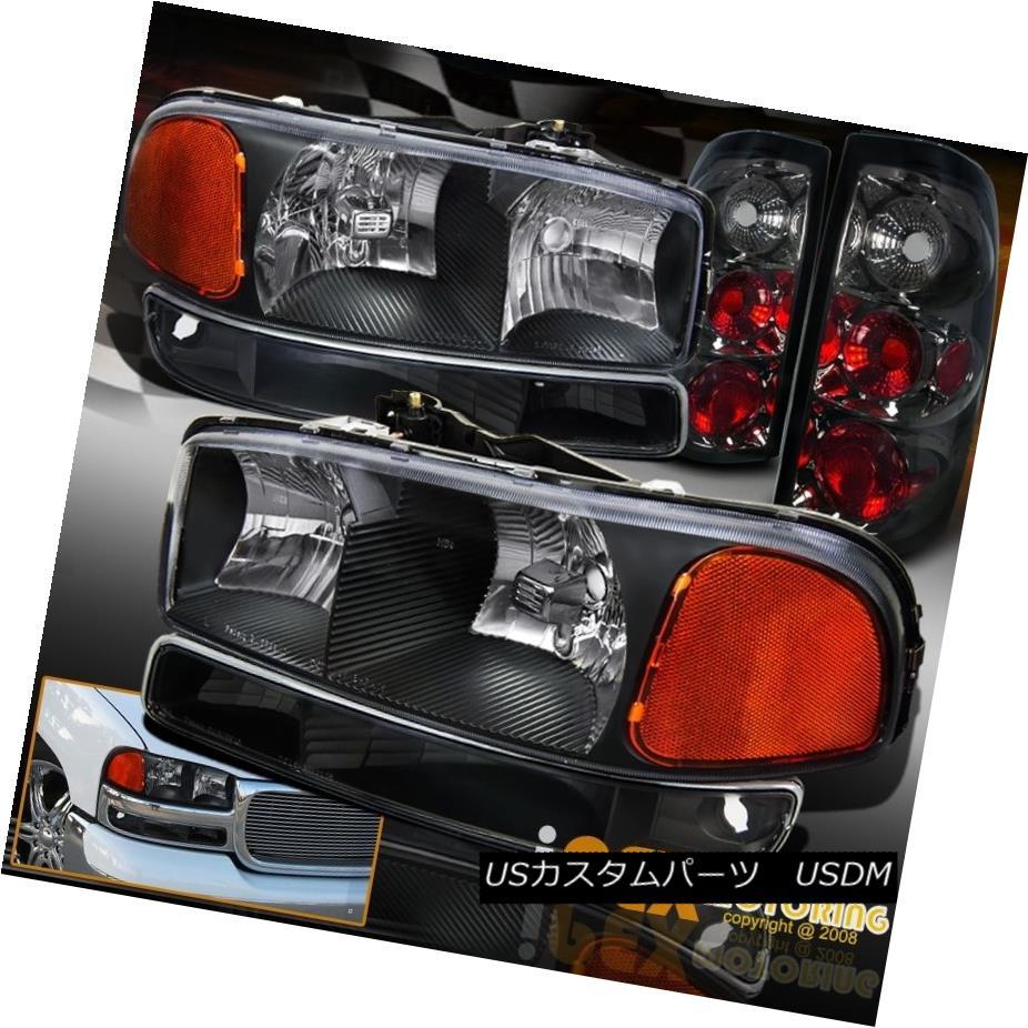 テールライト 2004-2006 GMC Sierra 1500 2500 Black Headlight + Signal Light & Smoke Tail Light 2004-2006 GMC Sierra 1500 2500ブラックヘッドライト+シグナルライト& スモークテールライト
