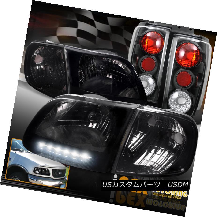 テールライト ( テールライト SHINY Light SMOKE ) 1997-2003 Ford Expedition Corner Headlights + Corner + Black Tail Light (SHINY SMOKE)1997-2003フォード遠征ヘッドライト+コーナー+ブラックテールライト, エムアイシー21(mic21):2d7abaf6 --- officewill.xsrv.jp