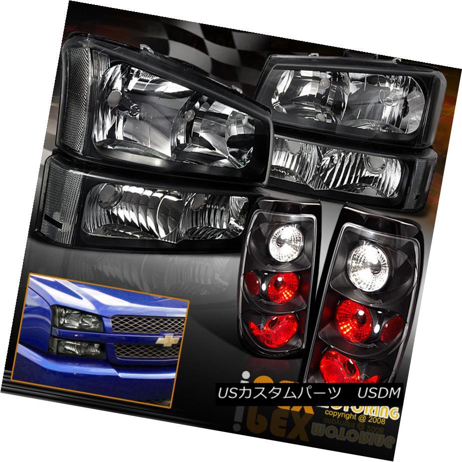 テールライト [Black] 2003-2006 Chevy Silverado 1500 2500 3500HD Headlight W/Signal+Tail Light [ブラック] 2003-2006シボレーシルバラード1500 2500 3500HDヘッドライトW /信号+テールライト