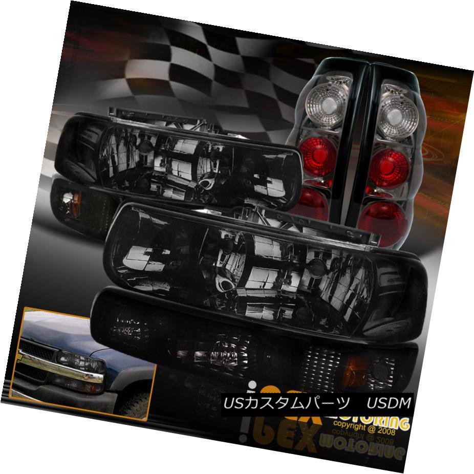 テールライト 1999-2002 Chevy Silverado 1500 2500 Smoke Headlight + Bumper Signal + Tail Light 1999-2002シボレーシルバラード1500 2500スモークヘッドライト+バンパー信号+テールライト