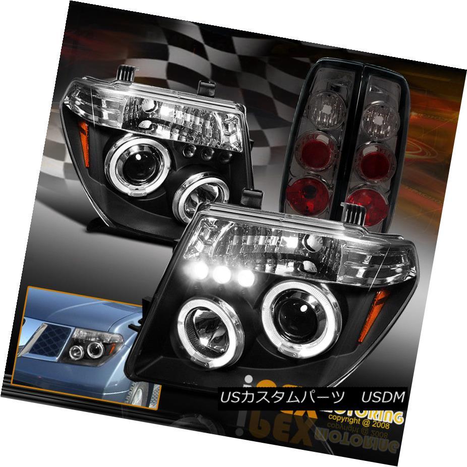 テールライト For 2005-2007 Pathfinder Halo Projector Black LED Headlights + Smoke Tail Light 2005-2007 Pathfinder Haloプロジェクター用ブラックLEDヘッドライト+スモークテールライト