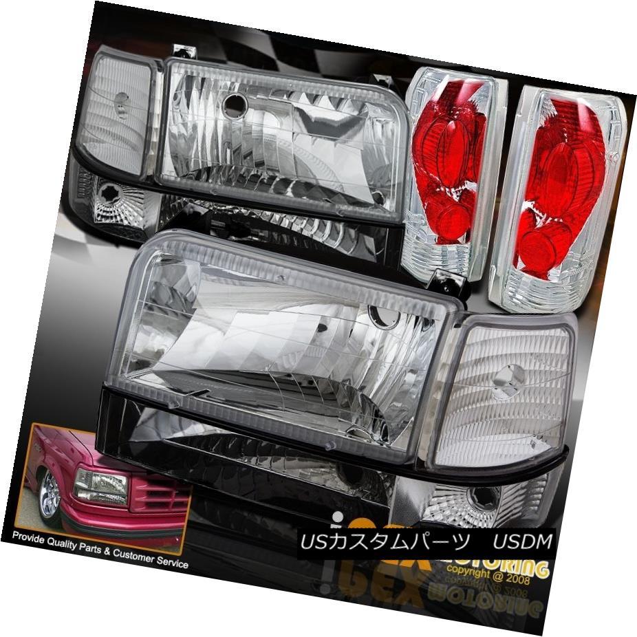 テールライト 1992-1996 Ford Tail F150 F250 Bronco Corner Chrome Headlights 1992-1996 + Corner Signals + Tail Lights 1992-1996フォードF150 F250ブロンコクロームヘッドライト+コーナー信号+テールライト, 伊豆グルメ:0713271a --- officewill.xsrv.jp