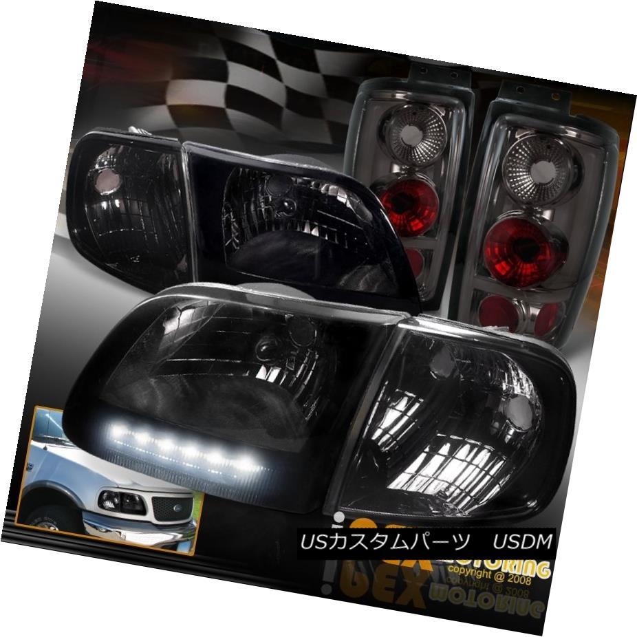 テールライト [FULL Smoke Combo] 1997-2002 Ford Expedition LED Headlights +Signal + Tail Light [FULL Smoke Combo] 1997-2002 Ford Expedition LEDヘッドライト+信号+テールライト