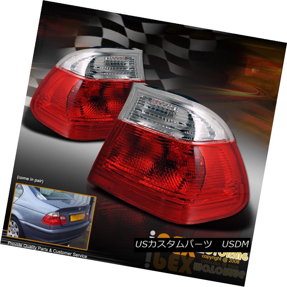 テールライト 1999 - 2001 BMW 3-Series E46 4 Door Sedan Red Clear Euro Tail Lights Brake Lamps 1999 - 2001 BMW 3シリーズE46 4ドアセダンレッドクリアユーロテールライトブレーキランプ