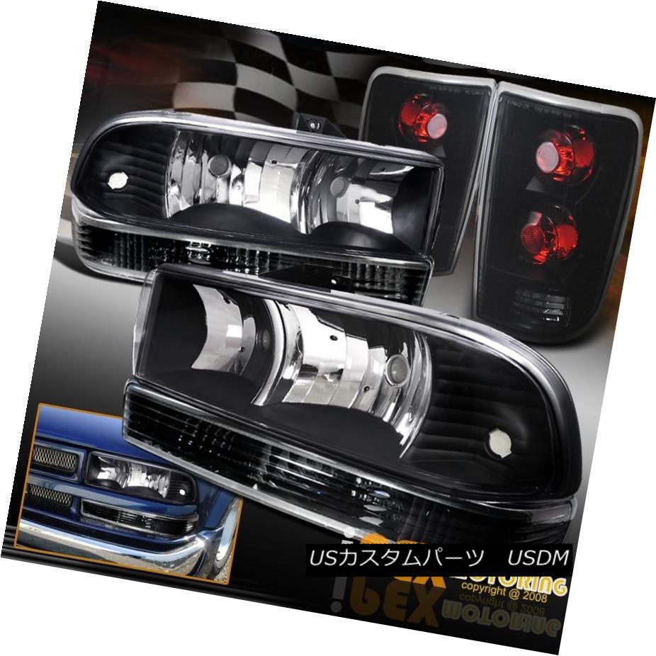 テールライト New Black Light+Signal Headlight+Dark Smoke Tail Light+Signal Lamp New テールライト For 1998-2004 Chevy Blazer 新しいブラックヘッドライト+ダークスモークテールライト+信号ランプ1998-2004シボレーブレイザー, 華きらり:768905ec --- officewill.xsrv.jp