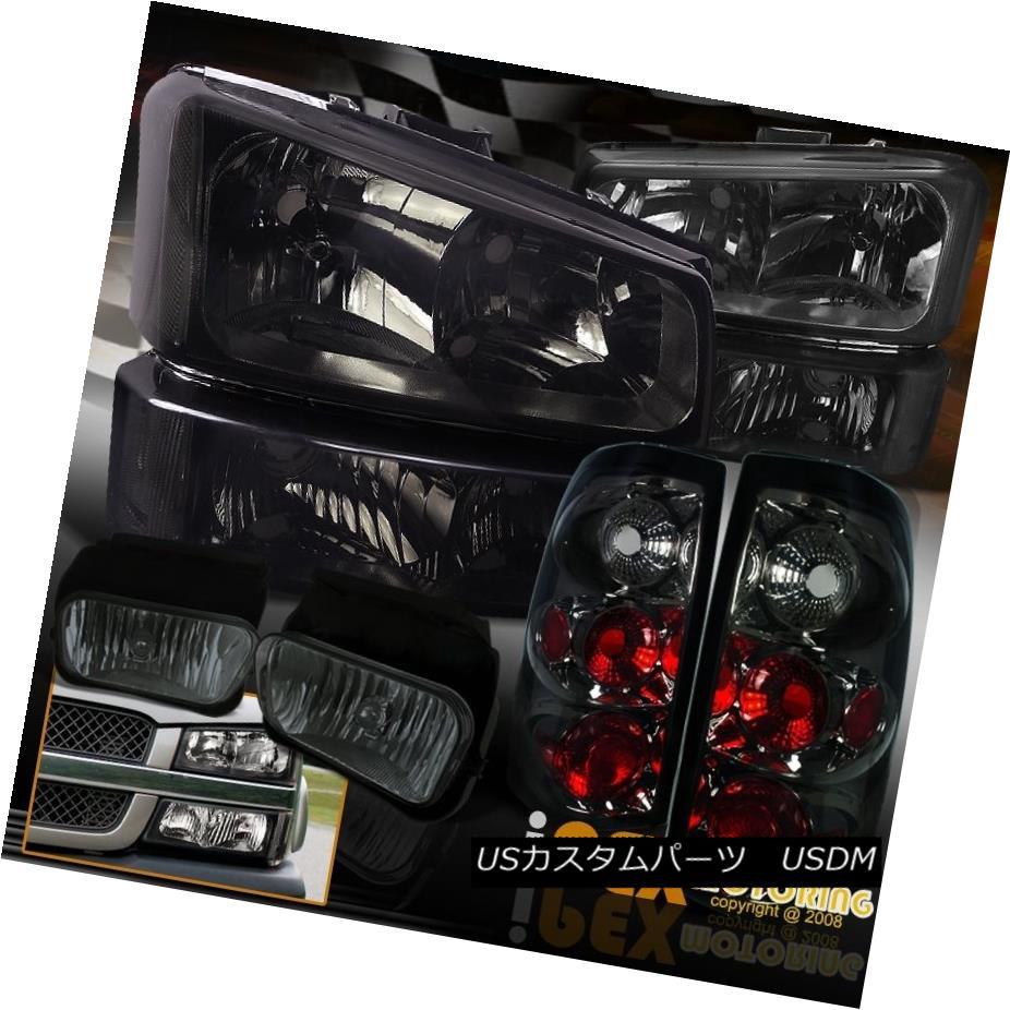 テールライト [FULL Smoke Combo] 2003-2006 Chevy Silverado 1500/2500 Headlights+Tail Light+Fog [フルスモークコンボ] 2003-2006シボレーシルバラード1500/2500ヘッドライト+タイ lライト+フォグ