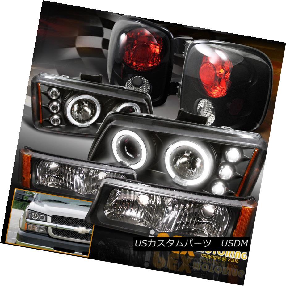 テールライト For [Step-Side] CHEVY Silverado Halo Projector LED Black Headlights + Tail Light [ステップ・サイド] CHEVY Silverado Haloプロジェクター用LEDブラックヘッドライト+テールライト