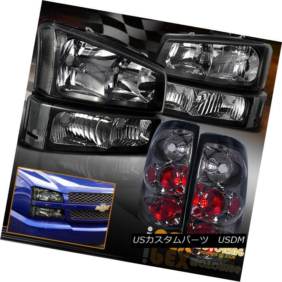 テールライト [BLACK] 2003-2006 Chevy Silverado 1500 2500 Headlights+Signal+[SMOKE] Tail Light [BLACK] 2003-2006シボレーシルバラード1500 2500ヘッドライト+シグモイドナル+ [SMOKE]テールライト
