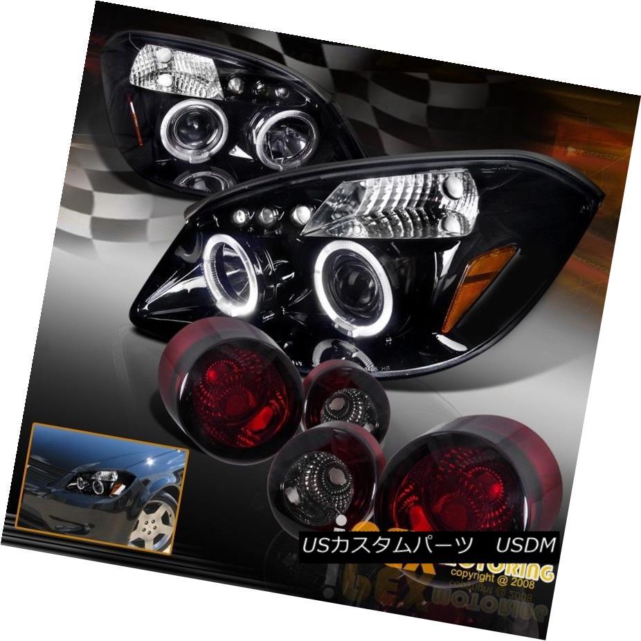 テールライト 05-10 Chevy Cobalt G5 Halo [Black-Smoked] Projector LED Headlight + Tail Light 05-10 Chevy Cobalt G5 Halo [ブラックスモーク]プロジェクターLEDヘッドライト+テールライト