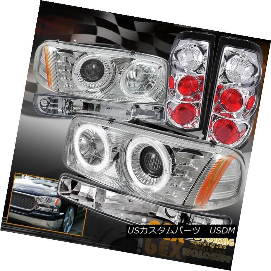 テールライト 2004-2006 GMC Sierra 1500 2500HD Halo Projector Headlight + Signals + Tail Light 2004-2006 GMC Sierra 1500 2500HDハロープロジェクターヘッドライト+信号+テールライト